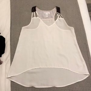 High low sheer tank top